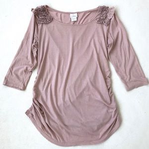 Oh Baby Maternity Rose Half-Sleeve Top